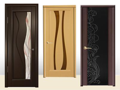 двери из шпона