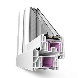 Пластиковые окна Rehau Intelio 86 мм